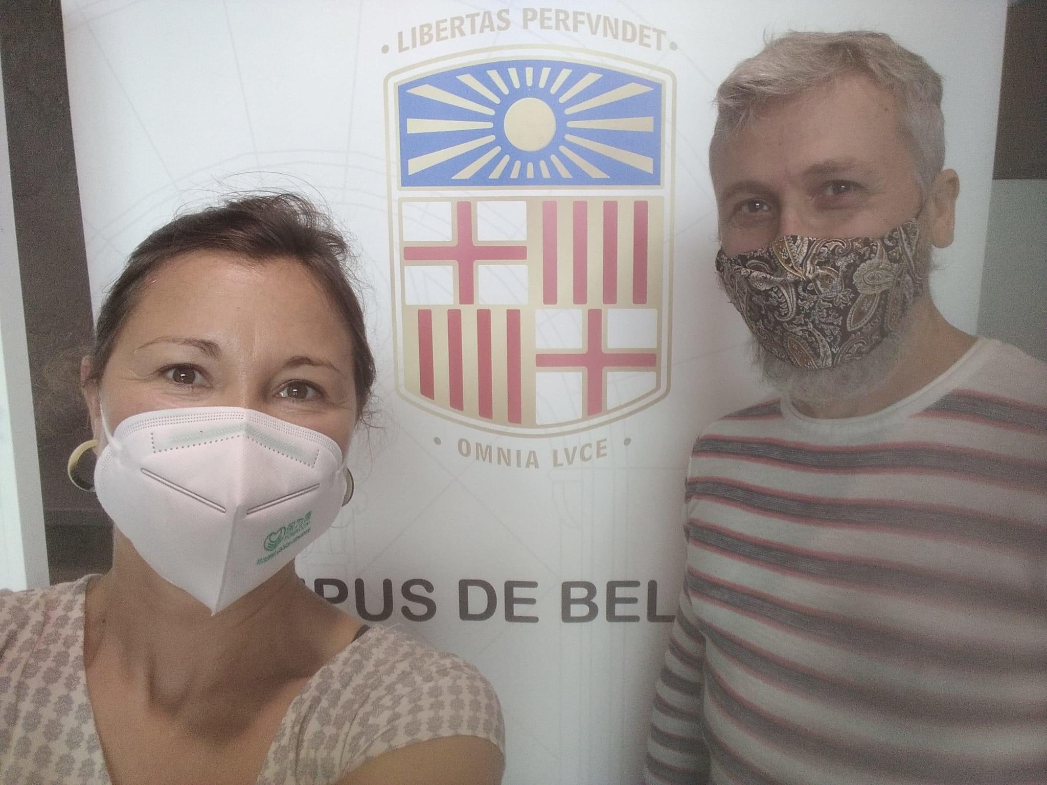 Realitat virtual al campus Bellvitge Nou hospital evangelic Abel Gelabert i Miriam Herrera grau fisioterapia